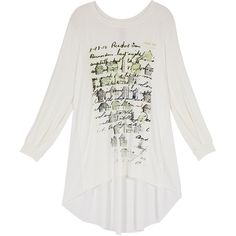 0427a73c88130 Melissa McCarthy Off-White Houses Hi-Low Tee ( 50) ❤ liked on