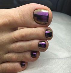 Nice toenails pedicure ideas toe nail designs, summer toe na Purple Toe Nails, Purple Toes, Pretty Toe Nails, Cute Toe Nails, Toe Nail Color, Summer Toe Nails, Toe Nail Art, Nail Polish Colors, Toe Nail Polish