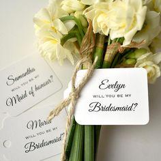 bridesmaid gift tags, maid of honour gift tags, personalised tag, wedding tag, bridesmaid, maid of honour, will you be, bridal party, tag by LittleWhiteMouse on Etsy  #bridalparty #weddingdesign #weddinginspiration #gifttags #willyoubemybridesmaid #etsyau #etsyaunzgroup #etsyaustralia #giftideas #bomboniere #favourtags #flowers