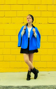 Color Spring 2014 Outfit - Mexican Fashion Blog Nancy Nannuck #NN #blue #yellow