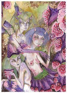 Foxgloves by Naomi von Monsta