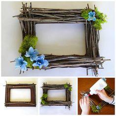 How to make a twig frame