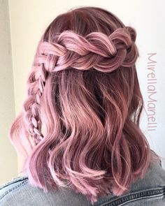 Dusty Violet Pink Braid