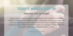 Today's Wealthcare Tip for #Widows: Determine Your Car Budget