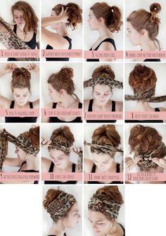 Hairstyles with bandanas (notitle) Hair Wrap Scarf, Hair Scarf Styles, Curly Hair Styles, Bandana Hairstyles, Pretty Hairstyles, Braided Hairstyles, Pelo Vintage, Hair Affair, Mode Vintage
