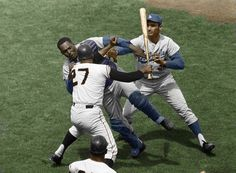 The Famous Photo Of Juan Marichal Beating Johnny Roseboro With His Bat, In Color