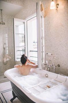 Favorite Bath Products - Carly the Prepster Favorite Bubble Baths Grey Baths, Relaxing Bath, Take A Shower, Getting Cozy, Clawfoot Bathtub, Bath Time, Bubble Baths, Home Improvement, Bubbles