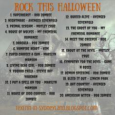 rock this halloween playlist