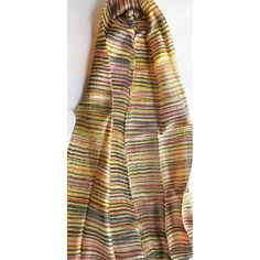 Silk scarf-Handwoven-Hand dyed-Batik scarf-Handmade-Natural silk-Pure... ($16) ❤ liked on Polyvore featuring accessories, scarves, pure silk scarves, silk shawl, batik scarves and silk scarves