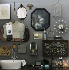 Saw this on Lotta Agaton's.  A fun mix of vintage and antique.