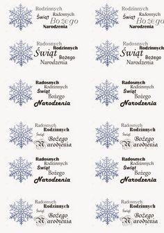 ozdobne napisy, napisy na Boże Narodzenie, napisy na kartki
