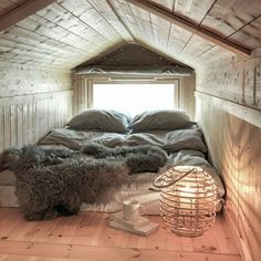 "dream-house-inspiration: "" Request by anonymous "" Romantic Master Bedroom, Cosy Bedroom, Master Bedroom Design, Bedroom Decor, Bohinj, Attic Bedrooms, Compact Living, Bonus Rooms, Attic Spaces"