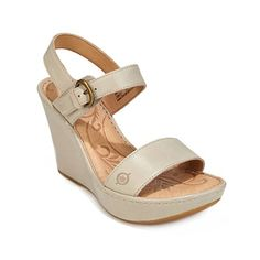 Born Lenore Wedge OFF WHITE Sandals Size: 6 >>> Details can be found by clicking on the image.