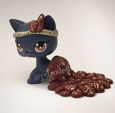 Custom Littlest Pet Shop Toy LPS Shorthair Cat