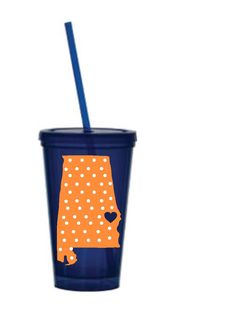 Auburn University Tumbler. $15.00, via Etsy... customizeable- WANT A UGA ONE! love this store in general