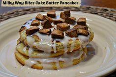 Milky Way Bites Cake Batter Pancakes - perfect #GameDayBites #cbias #shop