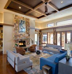 Bosque Residence - contemporary - living room - albuquerque - by Environmental Dynamics, Inc.