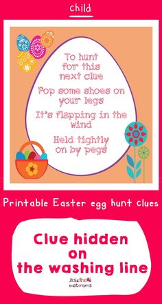 Looking for inspiration for Easter egg hunt clues? We've got some great ones that will take your kids on an exciting trail to find the ultmate prize of . Easter Egg Hunt Clues, Easter Eggs, Easter Ideas, Happy Easter, Free Printables, Board, Inspiration, Happy Easter Day, Biblical Inspiration