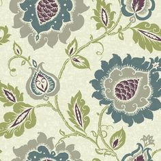 Jaco Floral Prepasted Wall Paper