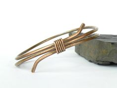 Wire Wrapped Copper Bangle Bracelet by Studio70Seven on Etsy, $30.00