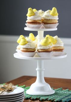 Buttery Yellow Citrus Cupcakes - so adorable and perfect for Easter!