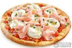Receita de Pizza de peito de peru e creme de ricota em receitas de salgados, veja essa e outras receitas aqui!