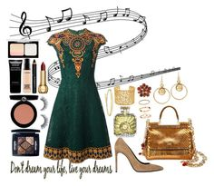 """""""Music in her Soul"""" by carlagoiata ❤ liked on Polyvore featuring Valentino, Yves Saint Laurent, Dolce&Gabbana, Brooks Brothers, White House Black Market, Givenchy, MAC Cosmetics, Giorgio Armani, Christian Dior and Guerlain"""
