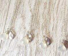 White wedding necklace, bridesmaid set of 4,5,6, white necklace https://www.etsy.com/listing/281737590/bridesmaid-necklace-set-of-4-5-6
