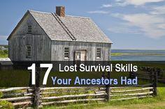 17 Lost Survival Skills Your Ancestors Had