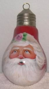 Santa lightbulb-beautifully painted