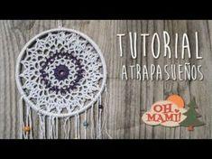 Cómo hacer un atrapasueños ganchillo   Crochet dreamcatcher - YouTube