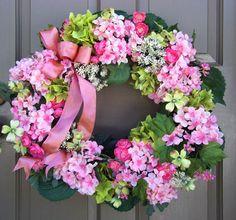 Spring Hydrangea Wreath inspiration