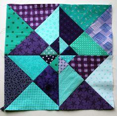 Pinwheel paper piecing pattern.