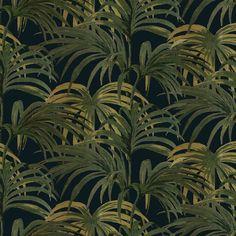 PALMERAL Wallpaper Midnight / Green