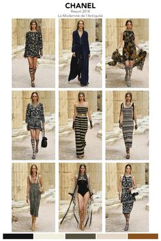"Chanel's Cruise 2018 collection ""La Modernité de l'Antiquité"" ancient Greek.  The runway show was complete with Hellenistic, Grecian, Goddess and Mediterranean inspirations for the setting and collect"