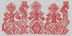 Russian part of the story is the horse embroidery. The horse was endowed with divine power and was considered a sign of the sun and sky.