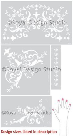 Ceiling Stencils | 19th Century Ceiling Set | Royal Design Studio