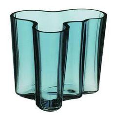 Petrol Green Aalto Vase by Iittala Blue Glass Vase, Colored Glass, Berkeley Homes, Tiffany Glass, Alvar Aalto, Carnival Glass, Porcelain Ceramics, Design Crafts, Art Decor