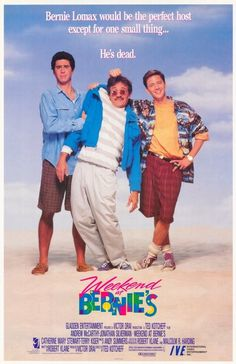 Guilty Pleasure: Weekend at Bernies. It's the greatest comedy based around a dead guy ever! (the other one, was Weekend at Bernies soundtrack, styles & young adult slapstick. 90s Movies, Comedy Movies, Great Movies, Movies To Watch, Movies Free, Famous Movies, Indie Movies, See Movie, Movie Tv