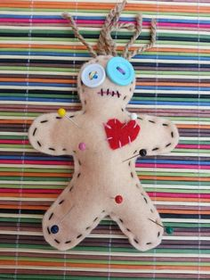 New Poppet/Voodoo Doll/Pin Cushion, Hand Crafted by the Barefoot Witchery! Get Yours TODAY! Can be used for multiple purposes within Magick! #poppet #voodoo #hoodoo #wicca http://www.eartisans.net/products/voodoo-doll-poppet-pin-cushion