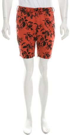 Paul Smith Printed Flat Front Shorts w/ Tags