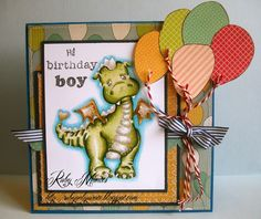 Magnolia  Ruby Montes, Lilyrose the Dragon, Spectrum Noir markers, Birthday boy card, and that's all she wrote, http://rubyonlywrote.blogspot.com/
