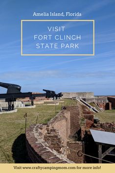 Visit Fort Clinch State Park on Amelia Island, Florida Florida City, Florida Travel, Amelia Island Florida, Best Campgrounds, Jekyll Island, Burritos, Celery, State Parks, Day Trips