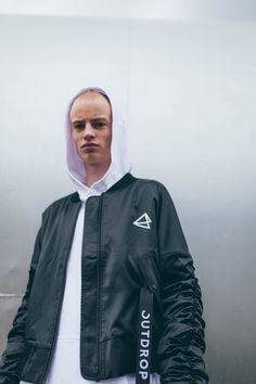 #bomberjacket #bomber // SS18 Bomber Jacket // Outdrop Clothing Rain Jacket, Bomber Jacket, Fashion Line, Aw17, Adidas Jacket, Windbreaker, Product Launch, Clothing, Jackets