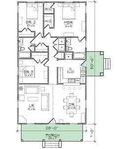 Compact Starter Or Retirement Home Plan   10044TT   1st Floor Master Suite,  CAD Available