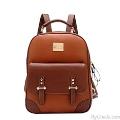 New British Style Vintage Leather Backpack