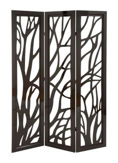 6ft Tall Wooden Hand Crafted  Carved Out Tree Branch Folding Screen on Etsy, $379.00