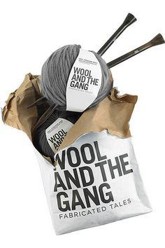 Packaging for wool yarn company.