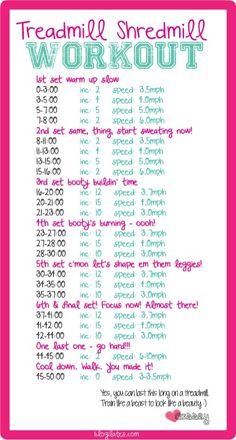Treadmill Shredmill workout