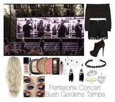 """Pentatonix Concert Bush Gardens Tampa"" by o2landlittlemix4ever ❤ liked on Polyvore featuring City Chic, Elizabeth and James, Giuseppe Zanotti, Blue Nile, Irene Neuwirth, NARS Cosmetics, L'Oréal Paris, Milani and plus size clothing"